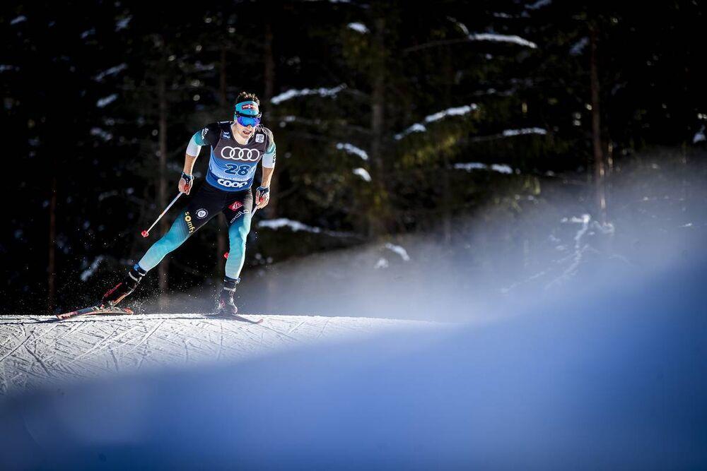 31.12.2019, Toblach, Italy (ITA):Adrien Backscheider (FRA) - FIS world cup cross-country, tour de ski, 10km women, Toblach (ITA). www.nordicfocus.com. © Modica/NordicFocus. Every downloaded picture is fee-liable.