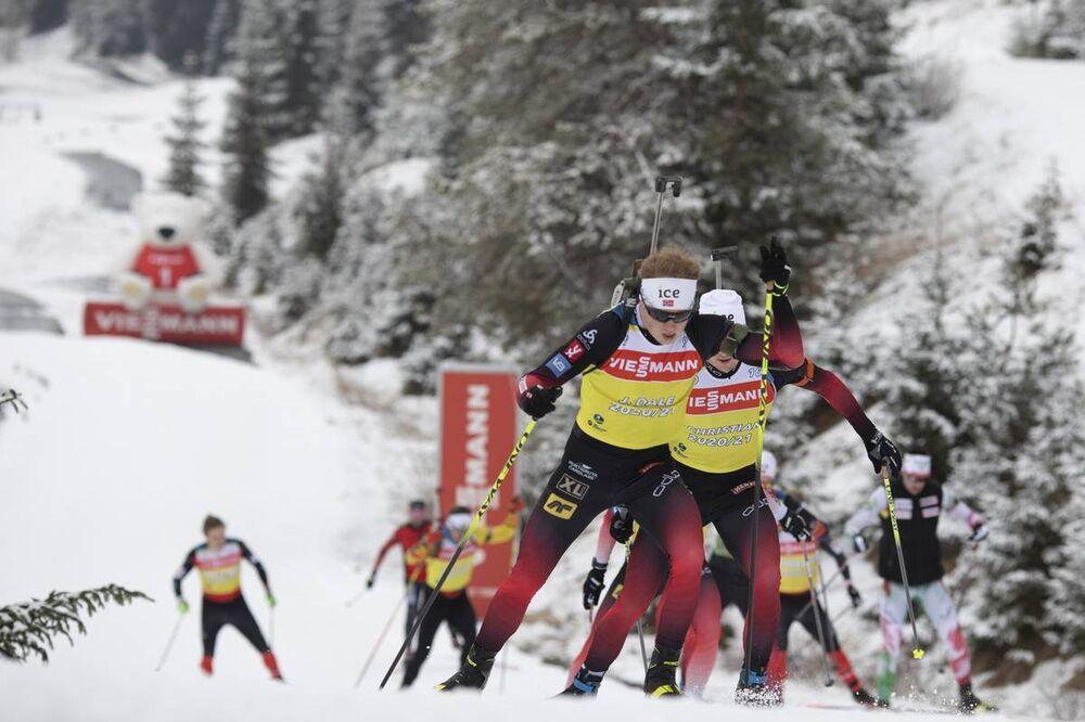 10.12.2020, Hochfilzen, Austria (AUT):Johannes Dale (NOR) -  IBU World Cup Biathlon, training, Hochfilzen (AUT). www.nordicfocus.com. © Manzoni/NordicFocus. Every downloaded picture is fee-liable.
