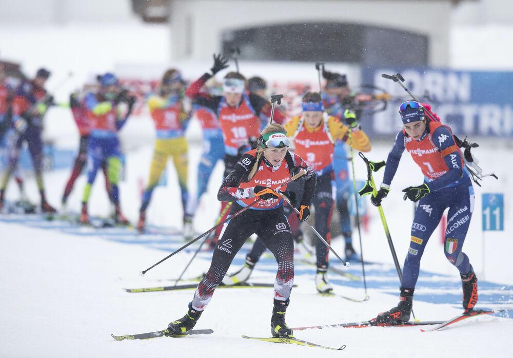 13.12.2020, Hochfilzen, Austria (AUT):Lisa Theresa Hauser (AUT) -  IBU World Cup Biathlon, pursuit women, Hochfilzen (AUT). www.nordicfocus.com. © Manzoni/NordicFocus. Every downloaded picture is fee-liable.