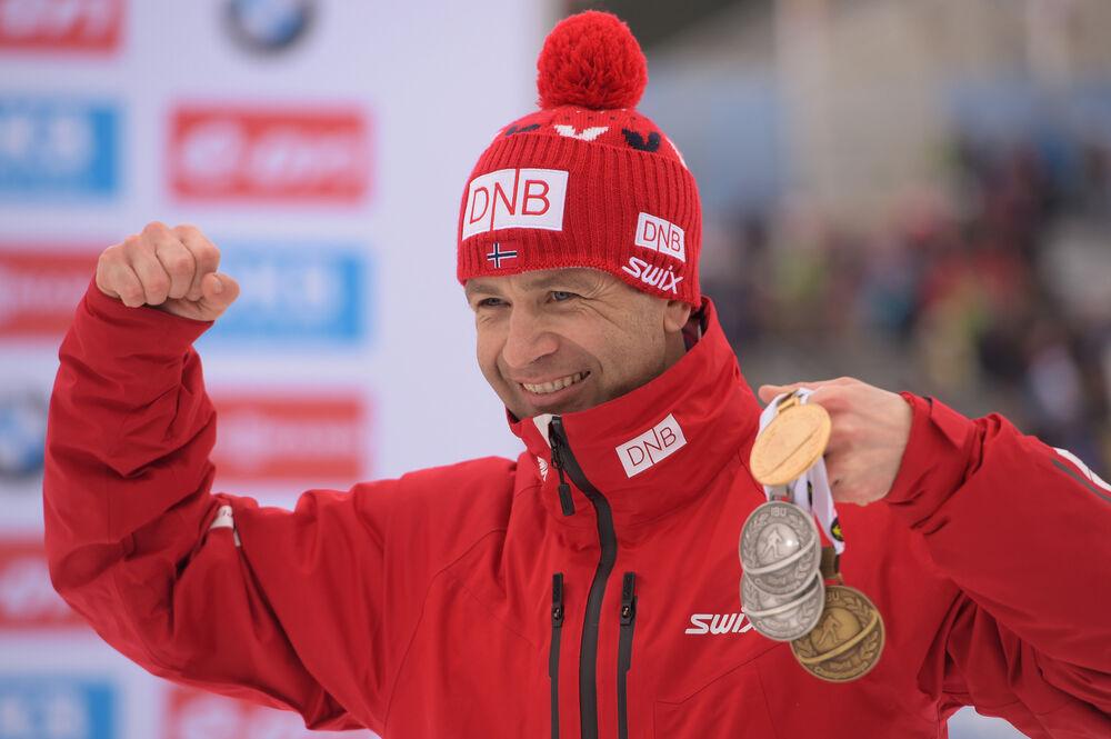 13.03.2016, Oslo, Norway (NOR):Ole Einar Bjoerndalen (NOR) - IBU world championships biathlon, mass men, Oslo (NOR). www.nordicfocus.com. © Tumashov/NordicFocus. Every downloaded picture is fee-liable.