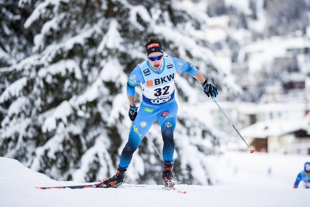 13.12.2020, Davos, Switzerland (SUI):Adrien Backscheider (FRA) - FIS world cup cross-country, 15km men, Davos (SUI). www.nordicfocus.com. © Modica/NordicFocus. Every downloaded picture is fee-liable.