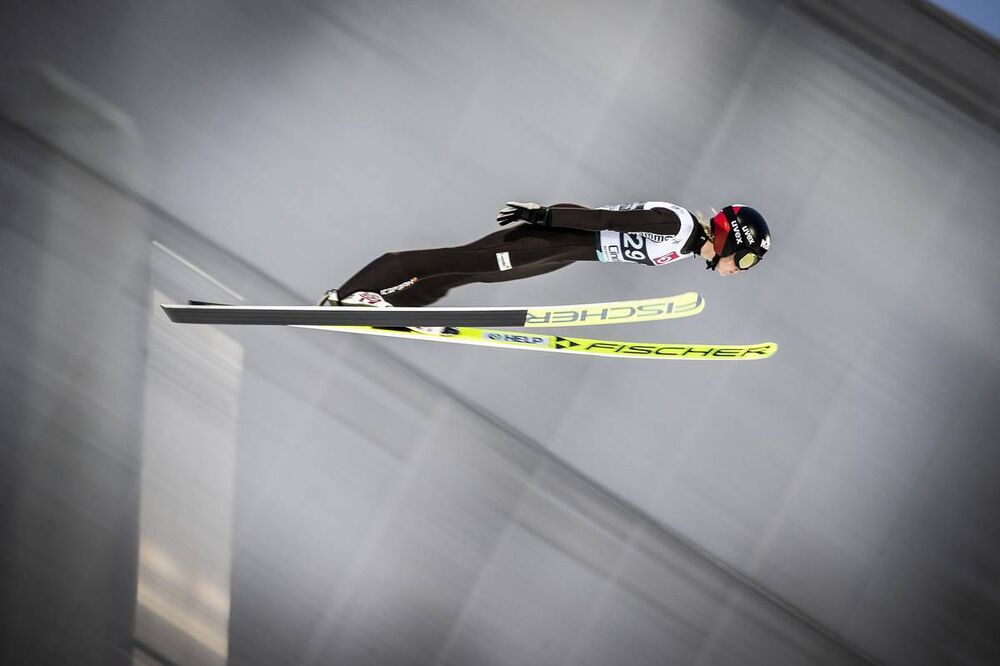 08.03.2020, Oslo, Norway (NOR):Maren Lundby (NOR) - FIS world cup ski jumping ladies, individual HS134, Oslo (NOR). www.nordicfocus.com. © Thibaut/NordicFocus. Every downloaded picture is fee-liable.