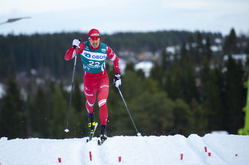 22.02.2020, Trondheim, Norway (NOR):Andrey Larkov (RUS) - FIS world cup cross-country, individual sprint, Trondheim (NOR). www.nordicfocus.com. © Thibaut/NordicFocus. Every downloaded picture is fee-liable.