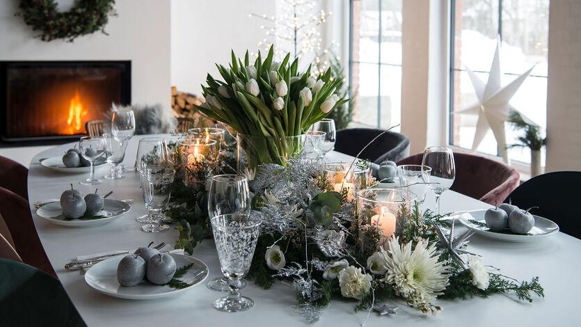 Blomster til<br/>nyttårsfesten