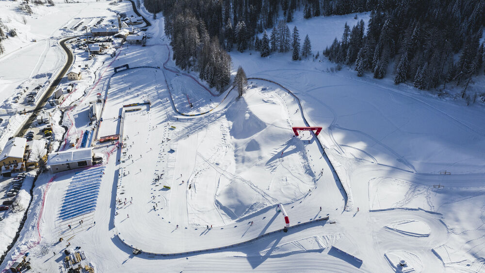 31.12.2020 Val Mustair, Switzerland (SUI): View of the stadium  - FIS world cup cross-country, tour de ski, training, Val Mustair (SUI). www.nordicfocus.com. © Modica/NordicFocus. Every downloaded picture is fee-liable.