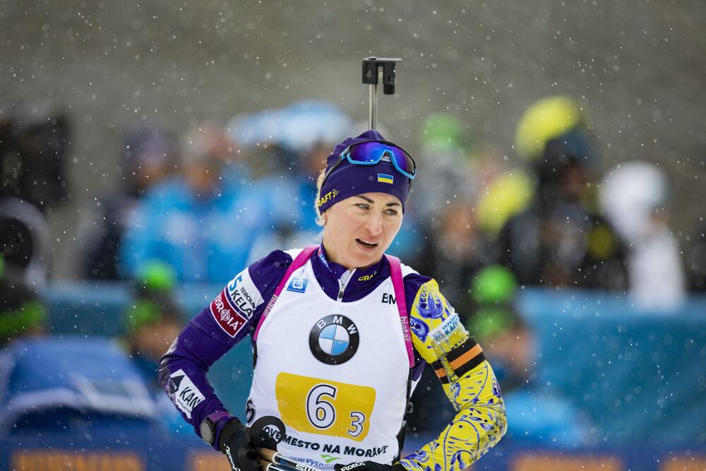 07.03.2020, Nove Mesto, Czech Republic (CZE):Valj Semerenko (UKR) - IBU world cup biathlon, relay women, Nove Mesto (CZE). www.nordicfocus.com. © Manzoni/NordicFocus. Every downloaded picture is fee-liable.