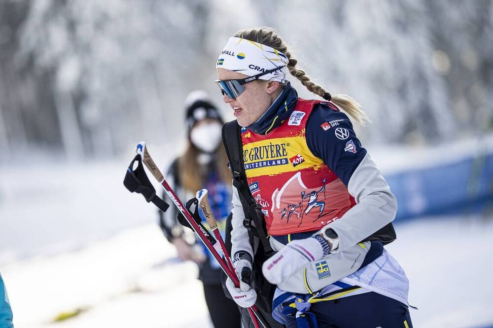 05.01.2021, Toblach, Italy (ITA):Linn Svahn (SWE) - FIS world cup cross-country, tour de ski, 10km women, Toblach (ITA). www.nordicfocus.com. © Modica/NordicFocus. Every downloaded picture is fee-liable.