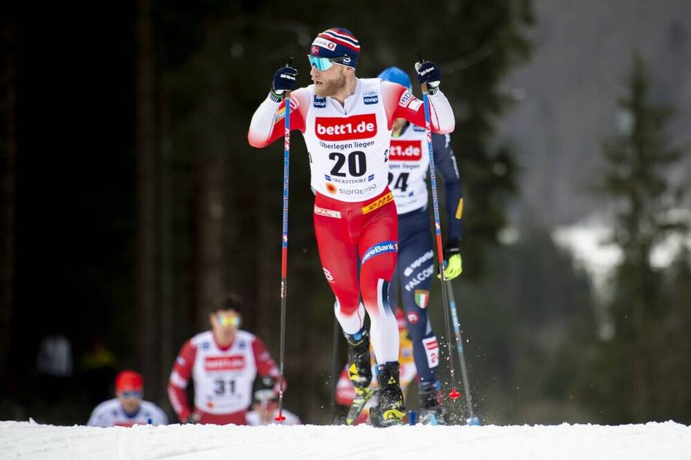 25.01.2020, Oberstdorf, Germany (GER):Martin Johnsrud Sundby (NOR) - FIS world cup cross-country, skiathlon men, Oberstdorf (GER). www.nordicfocus.com. © Thibaut/NordicFocus. Every downloaded picture is fee-liable.