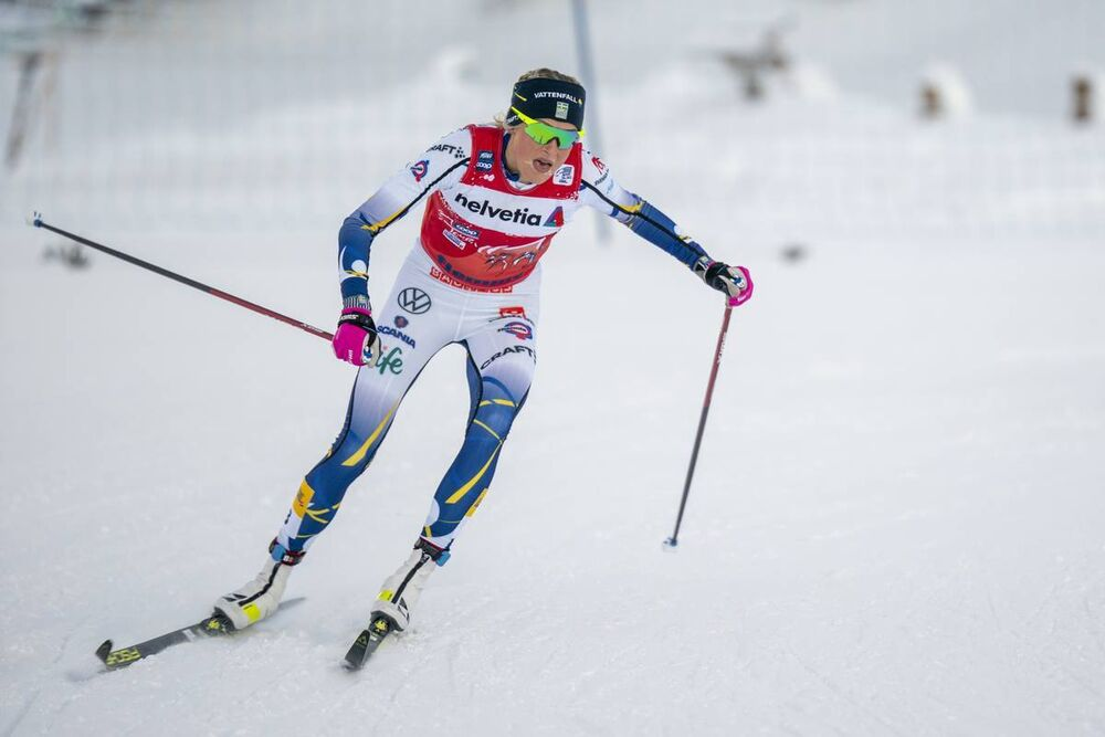 08.01.2021, Val di Fiemme, Italy (ITA):Frida Karlsson (SWE) - FIS world cup cross-country, tour de ski, mass women, Val di Fiemme (ITA). www.nordicfocus.com. © Vianney THIBAUT/NordicFocus. Every downloaded picture is fee-liable.