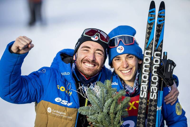 10.01.2021, Val di Fiemme, Italy (ITA): Delphine Claudel (FRA) - FIS world cup cross-country, tour de ski, final climb women, Val di Fiemme (ITA). www.nordicfocus.com. © Modica/NordicFocus. Every downloaded picture is fee-liable.