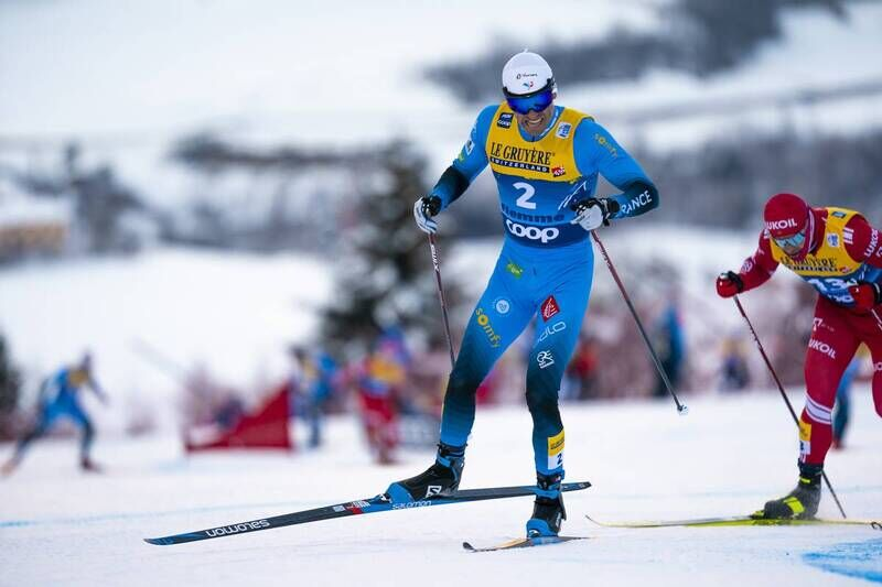 10.01.2021, Val di Fiemme, Italy (ITA):Maurice Manificat (FRA) - FIS world cup cross-country, tour de ski, final climb men, Val di Fiemme (ITA). www.nordicfocus.com. © Vianney THIBAUT/NordicFocus. Every downloaded picture is fee-liable.