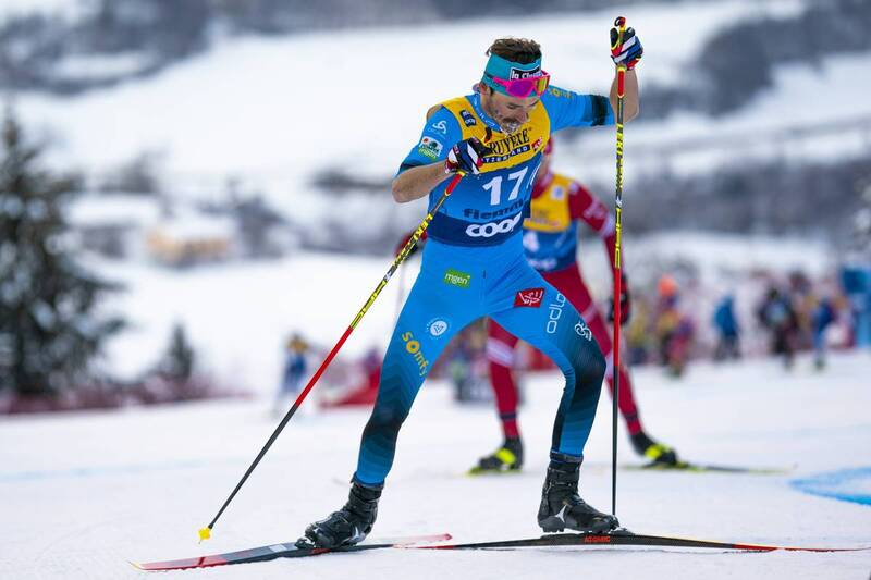 10.01.2021, Val di Fiemme, Italy (ITA): Hugo Lapalus (FRA) - FIS world cup cross-country, tour de ski, final climb men, Val di Fiemme (ITA). www.nordicfocus.com. © Vianney THIBAUT/NordicFocus. Every downloaded picture is fee-liable.