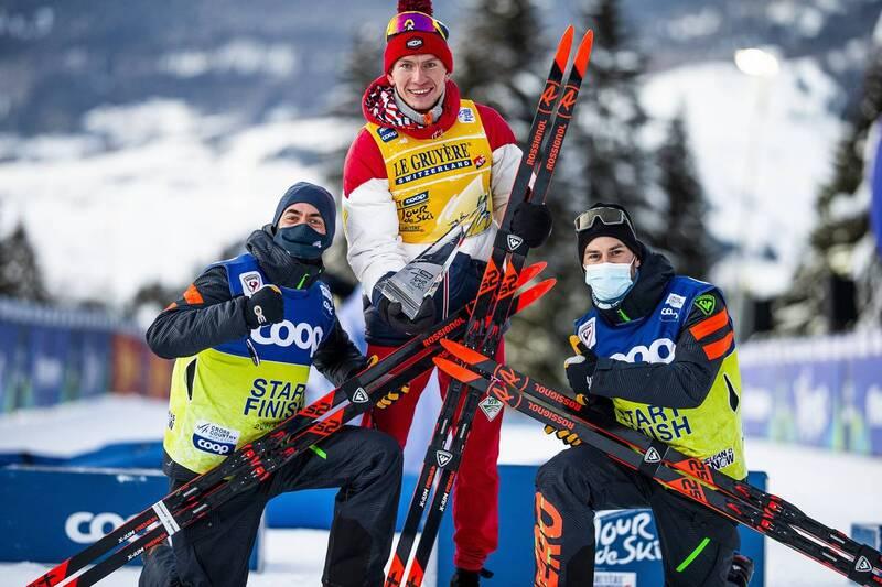 10.01.2021, Val di Fiemme, Italy (ITA): Alexander Bolshunov (RUS) - FIS world cup cross-country, tour de ski, final climb men, Val di Fiemme (ITA). www.nordicfocus.com. © Modica/NordicFocus. Every downloaded picture is fee-liable.