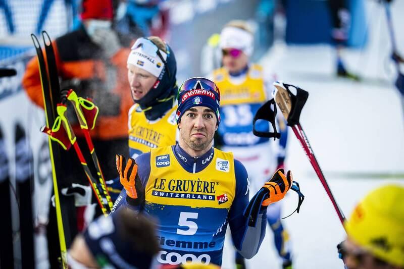 10.01.2021, Val di Fiemme, Italy (ITA): Federico Pellegrino (ITA) - FIS world cup cross-country, tour de ski, final climb men, Val di Fiemme (ITA). www.nordicfocus.com. © Modica/NordicFocus. Every downloaded picture is fee-liable.