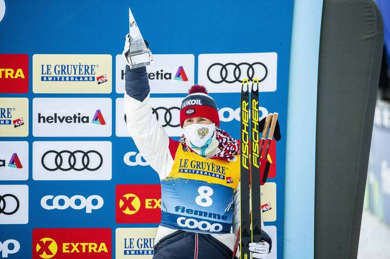 10.01.2021, Val di Fiemme, Italy (ITA): Denis Spitsov (RUS) - FIS world cup cross-country, tour de ski, final climb men, Val di Fiemme (ITA). www.nordicfocus.com. © Modica/NordicFocus. Every downloaded picture is fee-liable.