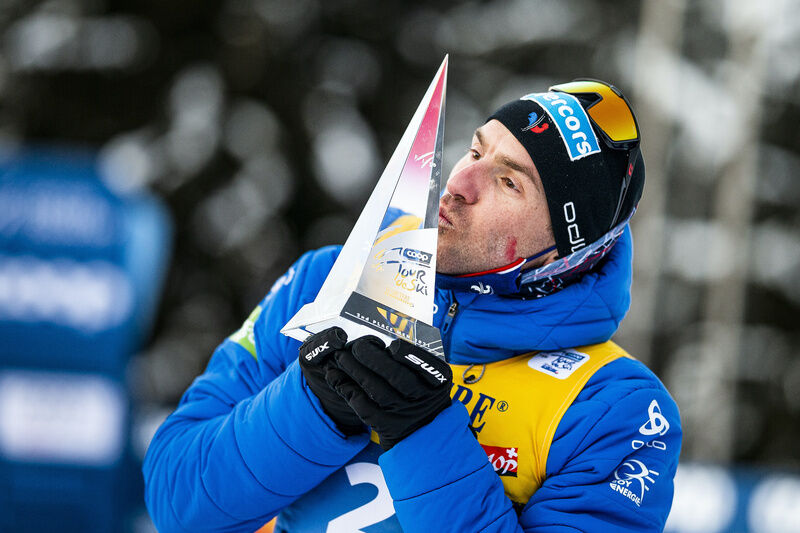 10.01.2021, Val di Fiemme, Italy (ITA):Maurice Manificat (FRA) - FIS world cup cross-country, tour de ski, final climb men, Val di Fiemme (ITA). www.nordicfocus.com. © Modica/NordicFocus. Every downloaded picture is fee-liable.