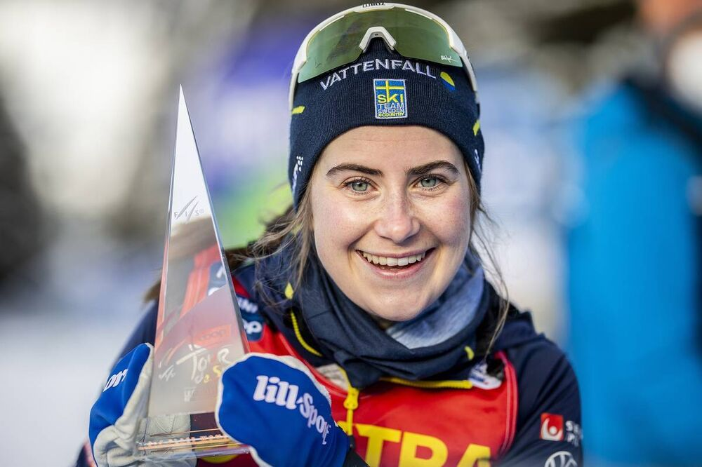10.01.2021, Val di Fiemme, Italy (ITA):Ebba Andersson (SWE) - FIS world cup cross-country, tour de ski, final climb women, Val di Fiemme (ITA). www.nordicfocus.com. © Modica/NordicFocus. Every downloaded picture is fee-liable.