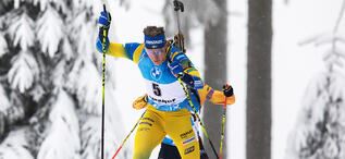 08.01.2021, Oberhof, Germany (GER):Martin Ponsiluoma (SWE) -  IBU World Cup Biathlon, sprint men, Oberhof (GER). www.biathlonworld.com © Manzoni/IBU. Handout picture by the International Biathlon Union. For editorial use only. Resale or distribution is