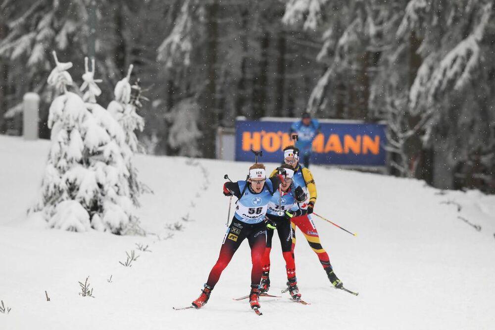 08.01.2021, Oberhof, Germany (GER):Sivert Guttorm Bakken (NOR) -  IBU World Cup Biathlon, sprint men, Oberhof (GER). www.nordicfocus.com. © Manzoni/NordicFocus. Every downloaded picture is fee-liable.