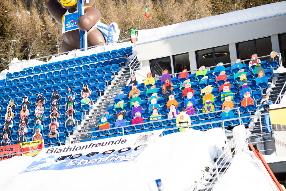 20.01.2021, Antholz, Italy (ITA):Event Feature: imaginary spectators in the venue of Antholz -  IBU World Cup Biathlon, training, Antholz (ITA). www.nordicfocus.com. © Manzoni/NordicFocus. Every downloaded picture is fee-liable.