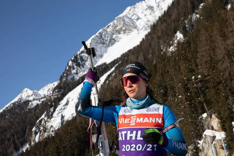 20.01.2021, Antholz, Italy (ITA): Anais Chevalier-Bouchet (FRA) -  IBU World Cup Biathlon, training, Antholz (ITA). www.nordicfocus.com. © Manzoni/NordicFocus. Every downloaded picture is fee-liable.