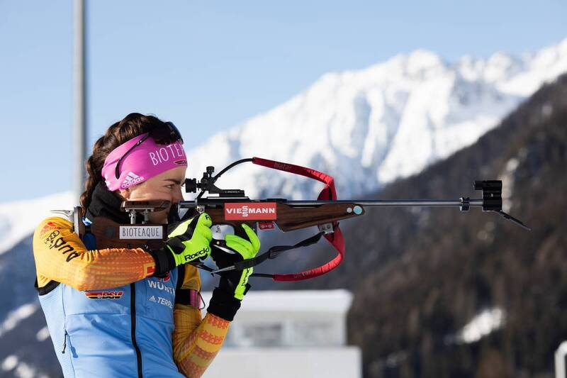 20.01.2021, Antholz, Italy (ITA): Marion Deigentesch (GER) -  IBU World Cup Biathlon, training, Antholz (ITA). www.nordicfocus.com. © Manzoni/NordicFocus. Every downloaded picture is fee-liable.