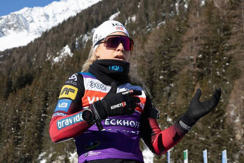 20.01.2021, Antholz, Italy (ITA): Tiril Eckhoff (NOR) -  IBU World Cup Biathlon, training, Antholz (ITA). www.nordicfocus.com. © Manzoni/NordicFocus. Every downloaded picture is fee-liable.