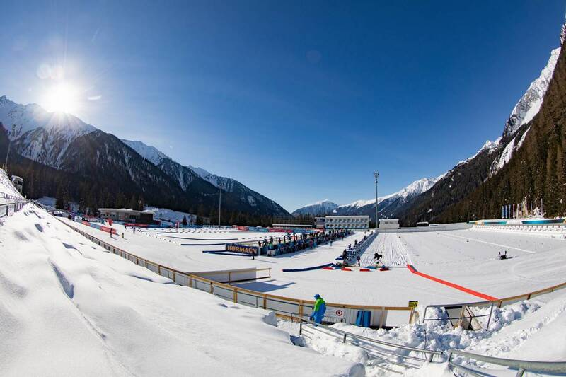 20.01.2021, Antholz, Italy (ITA): Event Feature: Overview over the venue of Antholz with the shooting range and the stadium infield -  IBU World Cup Biathlon, training, Antholz (ITA). www.nordicfocus.com. © Manzoni/NordicFocus. Every downloaded picture i