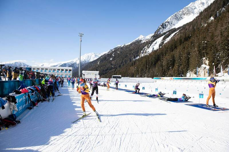 20.01.2021, Antholz, Italy (ITA): Janina Hettich (GER) leaves the shooting range while undefined athletes compete -  IBU World Cup Biathlon, training, Antholz (ITA). www.nordicfocus.com. © Manzoni/NordicFocus. Every downloaded picture is fee-liable.
