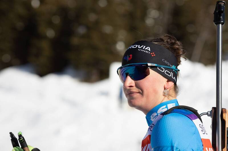 20.01.2021, Antholz, Italy (ITA): Julia Simon (FRA) -  IBU World Cup Biathlon, training, Antholz (ITA). www.nordicfocus.com. © Manzoni/NordicFocus. Every downloaded picture is fee-liable.