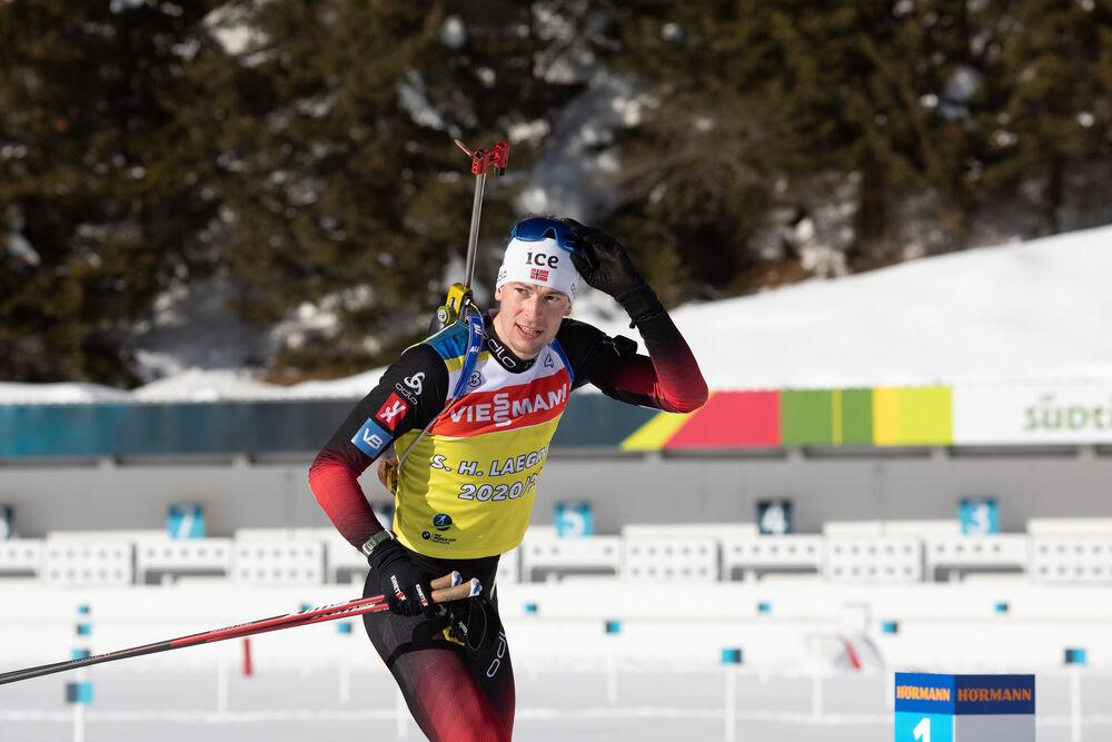 20.01.2021, Antholz, Italy (ITA):Sturla Holm Laegreid (NOR) -  IBU World Cup Biathlon, training, Antholz (ITA). www.nordicfocus.com. © Manzoni/NordicFocus. Every downloaded picture is fee-liable.