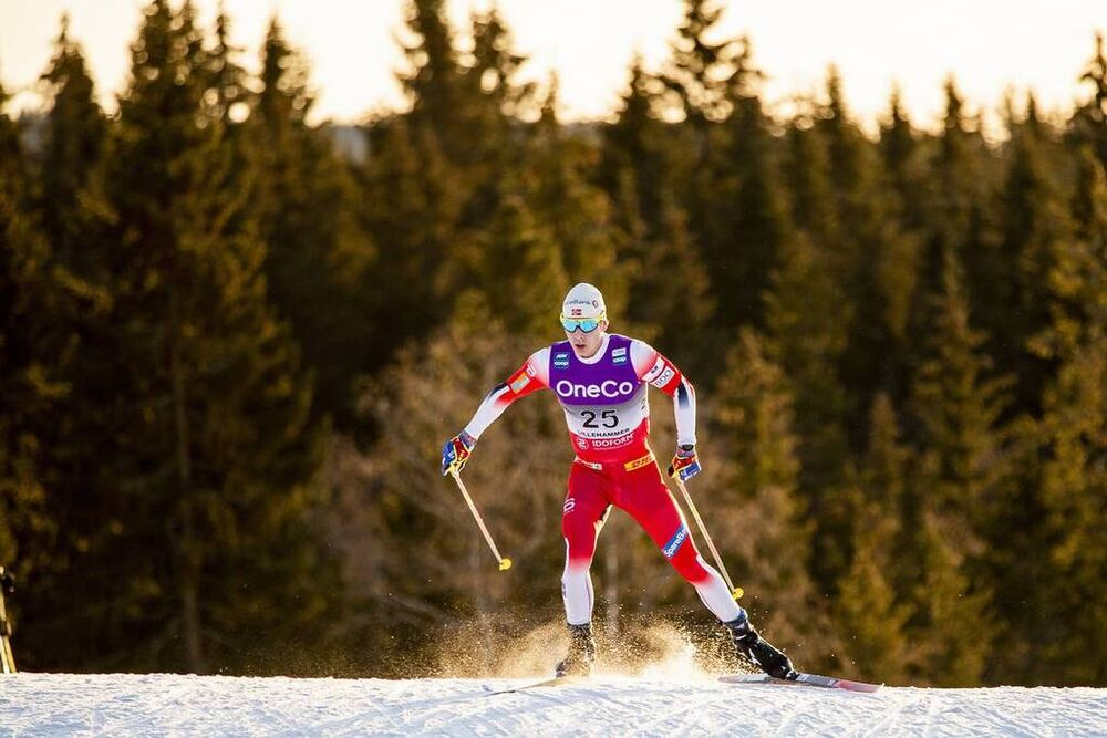 07.12.2019, Lillehammer, Norway (NOR):Simen Hegstad Krueger (NOR) - FIS world cup cross-country, skiathlon men, Lillehammer (NOR). www.nordicfocus.com. © Modica/NordicFocus. Every downloaded picture is fee-liable.