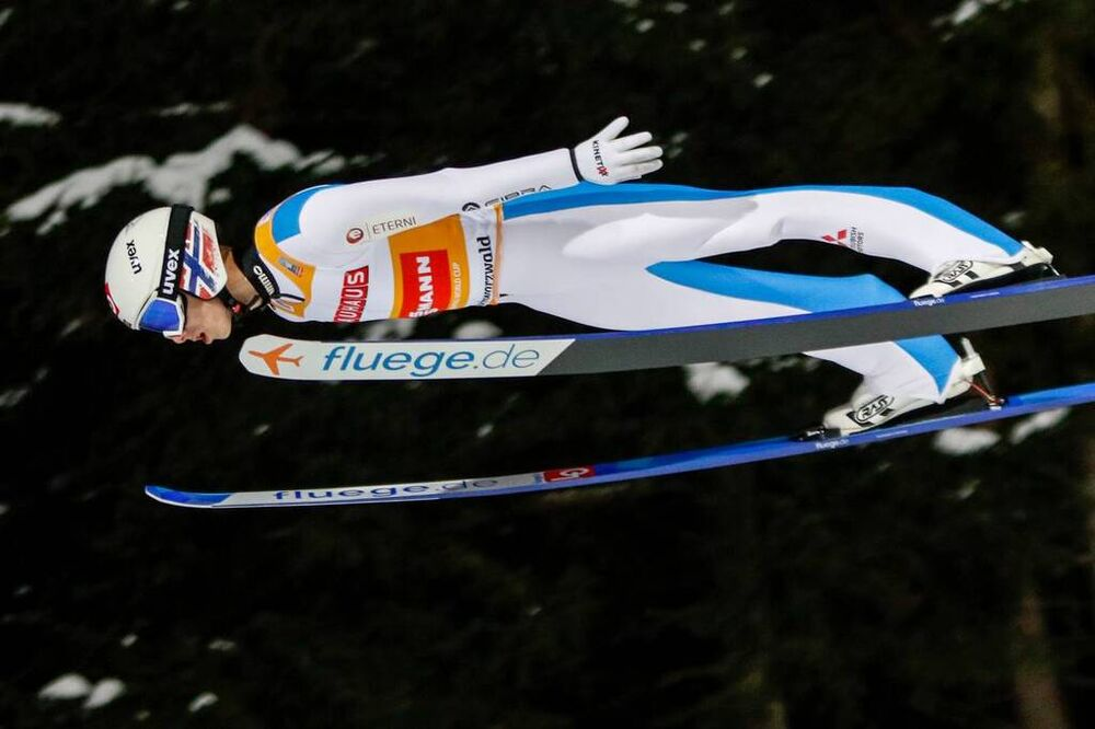 10.01.2021, Titisee-Neustadt, Germany (GER):Halvor Egner Granerud (NOR) - FIS world cup ski jumping men, individual HS142, Titisee-Neustadt (GER). www.nordicfocus.com. © Volk/NordicFocus. Every downloaded picture is fee-liable.