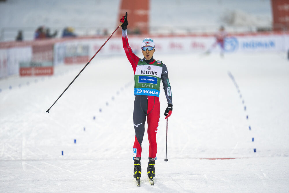 23.01.2021 Lahti, Finland (FIN):Akito Watabe (JPN) - FIS world cup nordic combined men, individual gundersen HS130/10km, Lahti (FIN). www.nordicfocus.com. © Vianney THIBAUT/NordicFocus. Every downloaded picture is fee-liable.