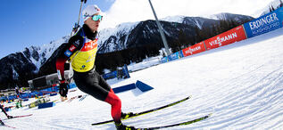 20.01.2021, Antholz, Italy (ITA):Johannes Thingnes Boe (NOR) -  IBU World Cup Biathlon, training, Antholz (ITA). www.biathlonworld.com © Manzoni/IBU. Handout picture by the International Biathlon Union. For editorial use only. Resale or distribution is