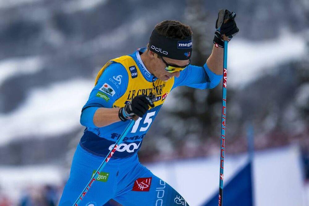 10.01.2021, Val di Fiemme, Italy (ITA):Clement Parisse (FRA) - FIS world cup cross-country, tour de ski, final climb men, Val di Fiemme (ITA). www.nordicfocus.com. © Vianney THIBAUT/NordicFocus. Every downloaded picture is fee-liable.