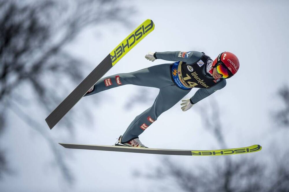 08.02.2020 Willingen, Germany (GER):Stefan Huber (AUT) - FIS world cup ski jumping, individual HS145, Willingen (GER). www.nordicfocus.com. © Thibaut/NordicFocus. Every downloaded picture is fee-liable.