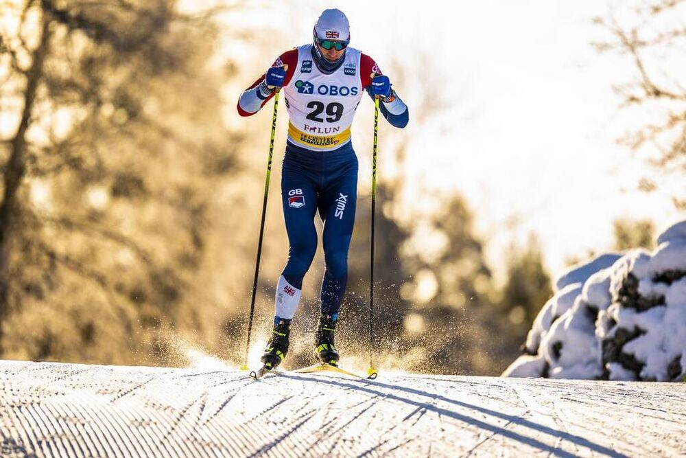 29.01.2021, Falun, Sweden (SWE):Andrew Young (GBR) - FIS world cup cross-country, 15km men, Falun (SWE). www.nordicfocus.com. © Thibaut/NordicFocus. Every downloaded picture is fee-liable.