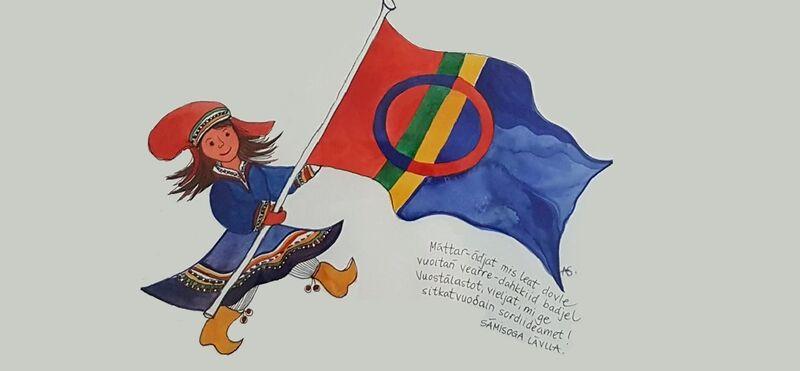 Anne Semb-illustrasjon til Nordnorske barnesanger