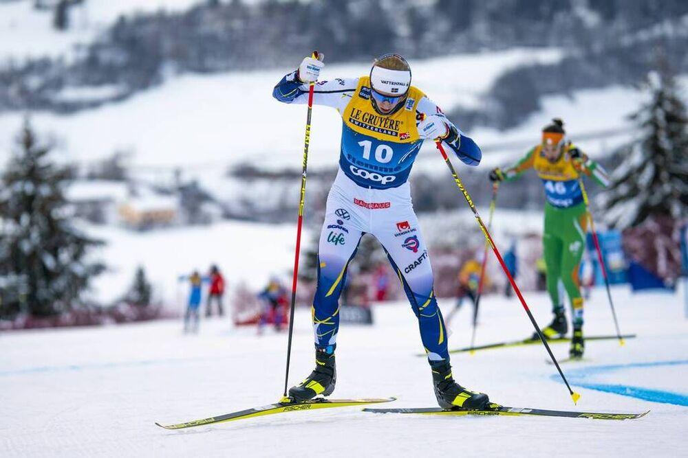 10.01.2021, Val di Fiemme, Italy (ITA):Oskar Svensson (SWE) - FIS world cup cross-country, tour de ski, final climb men, Val di Fiemme (ITA). www.nordicfocus.com. © Vianney THIBAUT/NordicFocus. Every downloaded picture is fee-liable.