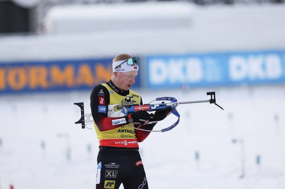 24.01.2021, Antholz, Italy (ITA):Johannes Thingnes Boe (NOR) -  IBU World Cup Biathlon, mass men, Antholz (ITA). www.nordicfocus.com. © Manzoni/NordicFocus. Every downloaded picture is fee-liable.