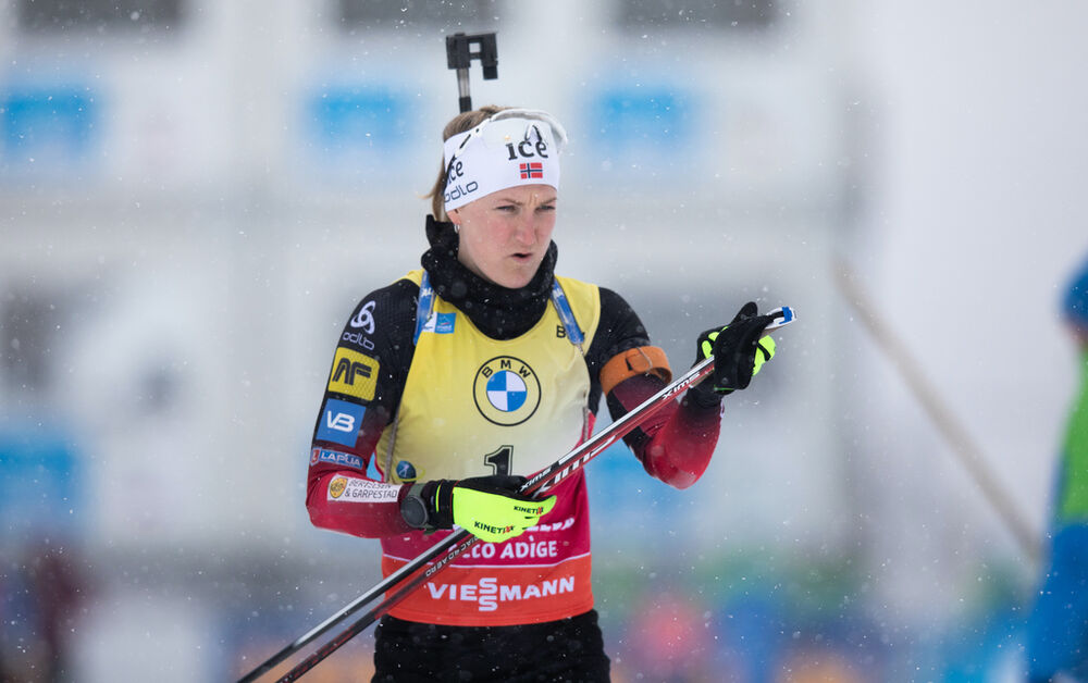 23.01.2021, Antholz, Italy (ITA):Marte Olsbu Roeiseland (NOR) -  IBU World Cup Biathlon, mass women, Antholz (ITA). www.nordicfocus.com. © Manzoni/NordicFocus. Every downloaded picture is fee-liable.
