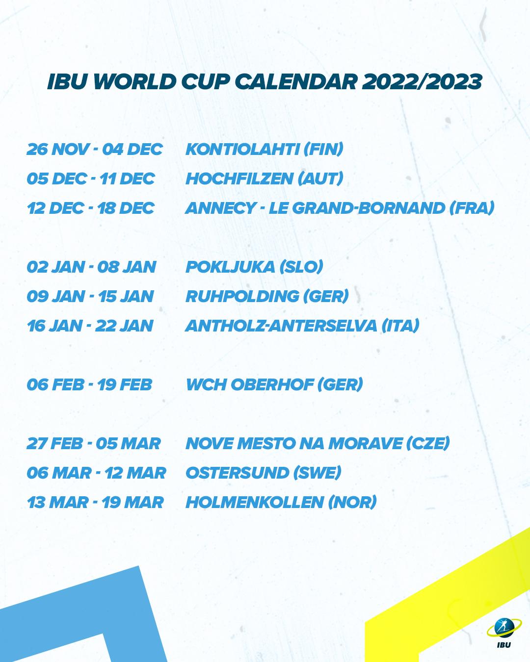 Biathlon 2022 Calendrier Biathlon   Le Grand Bornand au programme en 2021, 2022, 2024 et