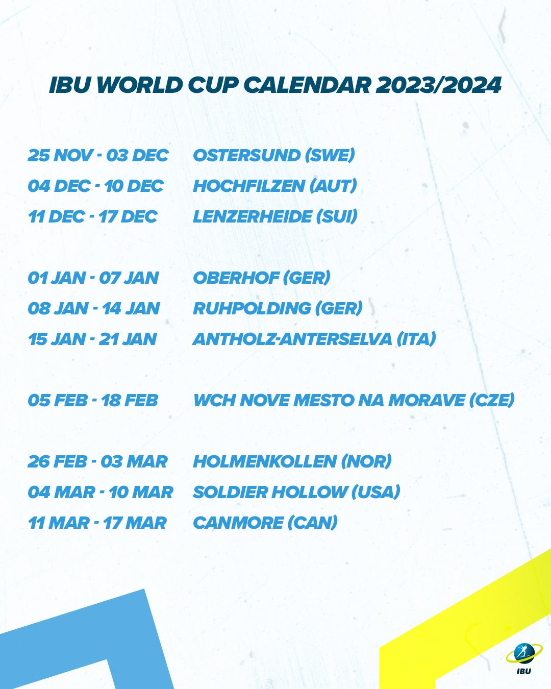 Calendrier Biathlon 2022 2023 Biathlon   Le Grand Bornand au programme en 2021, 2022, 2024 et