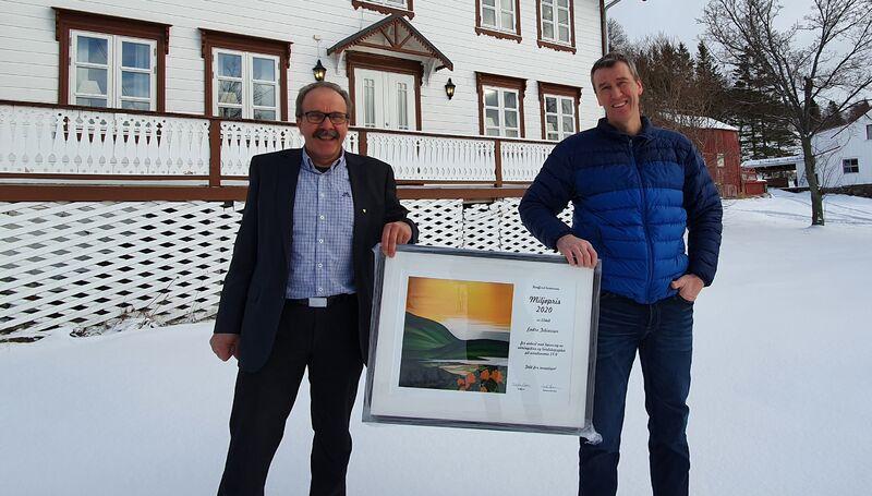 Endre Tobiassen og Ordfører Torbjørn Larsen