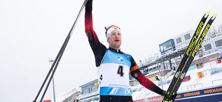 17.01.2021, Oberhof, Germany (GER):Tarjei Boe (NOR) -  IBU World Cup Biathlon, mass men, Oberhof (GER). www.biathlonworld.com © Manzoni/IBU. Handout picture by the International Biathlon Union. For editorial use only. Resale or distribution is prohibite
