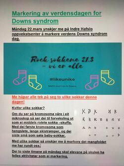 Plakat Verdsdagen for downs syndrom