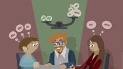 Hvis dine medarbeidere ofte bruker «nei», «men», «man», «alltid» og «aldri», bør du være oppmerksom. Selv om de diskuterer rolig og kanskje ikke selv er klar over at det er snakk om en konflikt, viser ordene at konflikten kan være nær en oppblussing. Jo tidligere du legger merke til en konflikt, jo lettere kan du løse den. Illustrasjon: idebanken.org