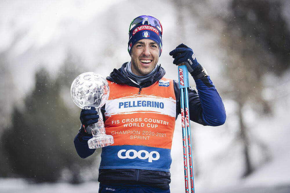 13.03.2021, Engadin, Switzerland (SUI):Federico Pellegrino (ITA) - FIS world cup cross-country, cups, Engadin (SUI). www.nordicfocus.com. © Modica/NordicFocus. Every downloaded picture is fee-liable.