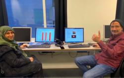Fornøyde deltakere på kurset «Digital borger» i Stavanger. Foto: Flyktningtjenesten, Stavanger kommune